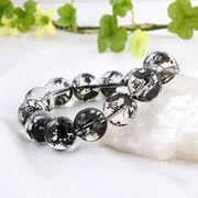 手彫り〈黒龍〉水晶(14mm)ブレスレット