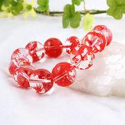 手彫り〈赤龍〉水晶(16mm)ブレスレット