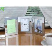 メタルトリプルフォトフレーム時計付(サービス) 0038140