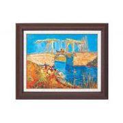 ゴッホ名画額F6号 「アルルのはね橋」 1714340