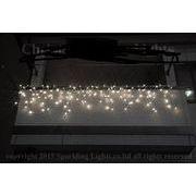 LEDイルミネーション、アイシクル(ツララ)、常点、プロ仕様(V4)、140球、アイボリー(象牙色)
