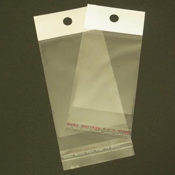 OPP袋ヘッダー付☆彡 200枚セット <お徳用> 透明 店舗什器 ディスプレイ用品 梱包 ラッピング 包装