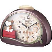 【新品取寄せ品】リズム時計製 目覚まし時計 「スヌーピーR506」 4SE506MJ09