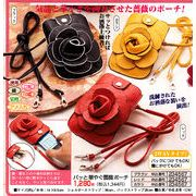 お洒落で便利な薔薇モチーフ付携帯スマホポーチ