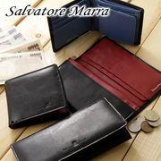 初回送料無料 【即納】 サルバトーレマーラ 牛革 メンズ折財布  【メーカー発送】
