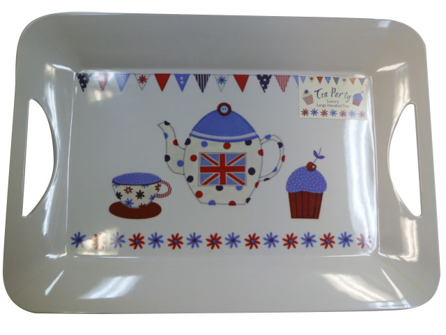 creative tops LUXURY HANDLED TRAYS  ラージトレイ <イギリス×ティーポット>