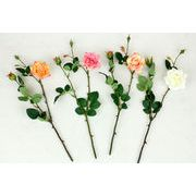 ローズスプレーX3(M) 造花 アーティフィシャルフラワー
