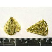 エンドキャップ ゴールド 約17mm 内径13mm 通し穴1.5mm【20個セット】