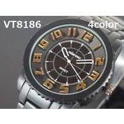 VITAROSOユニセックス腕時計 メタルウォッチ マットブラック 日本製ムーブメント