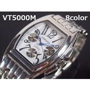 VITAROSOメンズ腕時計 メタルウォッチ 日本製ムーブメント クロノデザイン