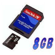 SDアダプタ付き!! SanDisk サンディスク  microSDHC/8GB