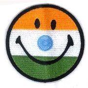 輸入ワッペン にこちゃん インド