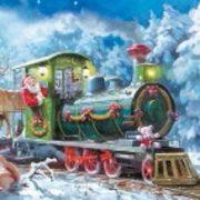 Maki  ペーパーナプキン クリスマス サンタ×トレイン