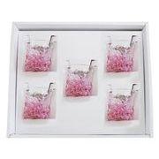 【感謝をこめて沖縄伝統工芸品を贈ります】陽桜三角でこぼこグラス5個ギフトセット