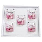 【感謝をこめて沖縄伝統工芸品を贈ります】陽桜泡盛グラス5個ギフトセット