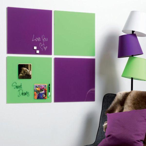 """ガラス製のメッセージボード!""""Magnetic glass board(マグネチックグラスボード)45×45cm"""""""