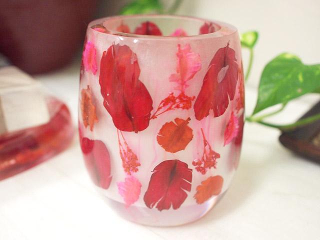 歯ブラシスタンドカップ Red flower GIFTに最適!
