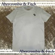 正規品【Abercrombie&Fitch】アバクロ★メンズ★刺繍★ロゴ★Tシャツ★ホワイト
