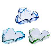 【大人気の琉球ガラス】暑い夏にぴったり!三角灰皿