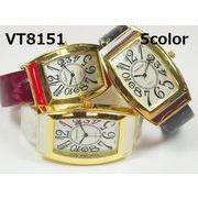 VITAROSOレディース腕時計 バングルウォッチ 日本製ムーブメント トノー型 大きめ文字盤