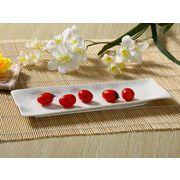 【強化】 長皿(12号デザイン皿)  おうちカフェ/寿司皿/すし皿/さんま皿/白食器