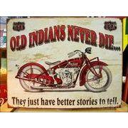 アメリカンブリキ看板 インディアンは死なない