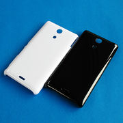 【SO-04E/PC】ドコモ Xperia A (エクスペリアエース) ホワイト(白) ブラック(黒)ハードタイプPC素材