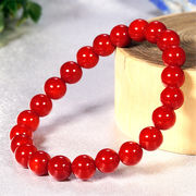 3月誕生石♪ 最高級5A★天然 赤珊瑚 φ8mm コーラル ブレスレット☆Love Red♪