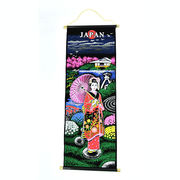 和柄タペストリー45cm&80cm(日本庭園と舞妓)