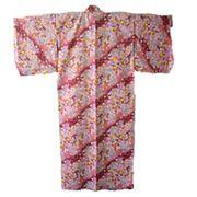 FJK 日本 お土産 婦人着物 綿着物・桜柄 フリーサイズ R106