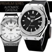【カレンダー機能付き】42mmフェイスバックスケルトン自動巻き腕時計【保証書付】