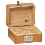 コレクト 印箱(錠付)木製 小 AK-6 3列3段