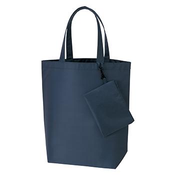 コンパクトバッグ(L)ポーチ付 / ネイビー / トートバッグ A4 無地 エコロジーバッグ