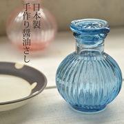菊型 昔なつかし手作り醤油さし ブルー