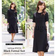 【A4-AS】ブラックフォーマル対応テーラードワンピーススーツ(c572056)喪服 礼服 冠婚葬祭