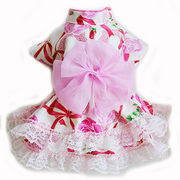 日本製 セレブスタイル 高品質ペットウェア 犬服 犬用浴衣ドレス(ホワイトリボン) SS/S/M/MD-M/L