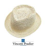 Vincent Pradier ラフィア中折れハット 新作 紫外線 帽子 ハット