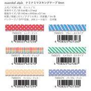 assarted style ナミナミマスキングテープ 8mm * 5m NamiNami masking tape
