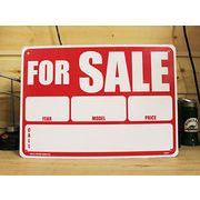 アメリカン雑貨 看板 プラスチックサインボード 売ります For Sale フォーセール CA-09