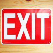 看板/プラスチックサインボード 出口 Exit CA-01