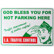 アメリカン雑貨 看板 プラスチックサインボード ロサンゼルス交通規制 L.A.Traffic Control CA-49