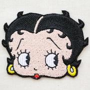 ワッペン/アップリケ ベティブープ Betty Boop(フェイス) アイロン接着 BBW-001
