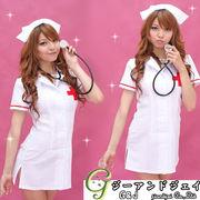 【即納】背中セクシーな白い看護婦コスプレ ナースコスプレコスチュームクリスマスハロウィン