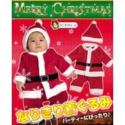 子供用サンタクロース着ぐるみ ロンパース(フリース生地/クリスマス/パーティ/コスチューム)