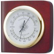 《ギフトにも最適》【日本製天然木】カスタム温度・湿度計