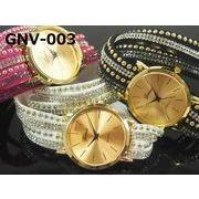 ★日本製ムーブで再入荷★ GENEVAレディース腕時計 ダブルラップブレスレット