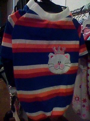 セール☆人気の格安犬服☆ 半そで王様猫Tシャツ S