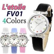 カラーストーンインデックス レディース 腕時計 FV01