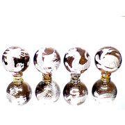 職人手彫りの本格派!風水 銀彫四神獣彫刻煙水晶12ミリ→大粒16ミリ