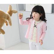 フリル襟のカーディガン 100cm~140cm全2色 綿65% 繊維35% 韓国子供服